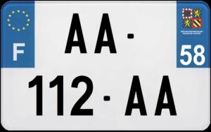 Plaque MOTO – 210×130 – 58 – Nièvre
