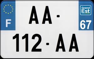 Plaque MOTO – 210×130 – 67 – Bas-rhin
