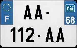 Plaque MOTO – 210×130 – 68 – Haut-Rhin