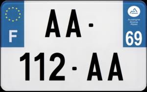 Plaque MOTO – 210×130 – 69 – Rhône