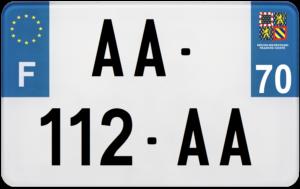 Plaque MOTO – 210×130 – 70 – Haute-Saône