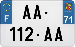 Plaque MOTO – 210×130 – 71 – Saône-et-loire
