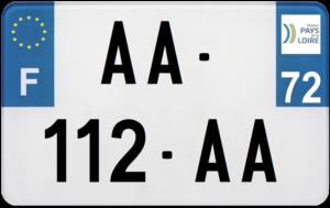 Plaque MOTO – 210×130 – 72 – Sarthe