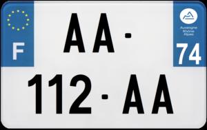 Plaque MOTO – 210×130 – 74 – Haute-Savoie