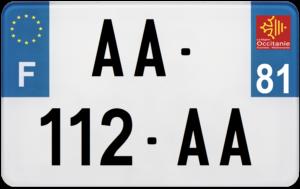 Plaque MOTO – 210×130 – 81 – Tarn