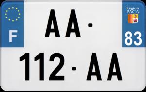 Plaque MOTO – 210×130 – 83 – Var