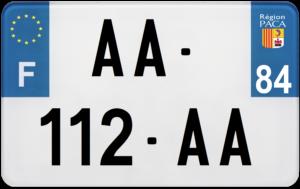 Plaque MOTO – 210×130 – 84 – Vaucluse
