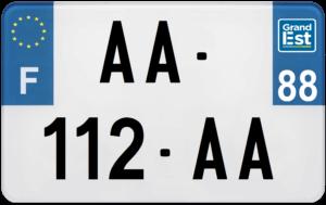 Plaque MOTO – 210×130 – 88 – Vosges