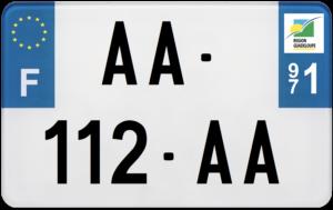 Plaque MOTO – 210×130 – 971 – Guadeloupe