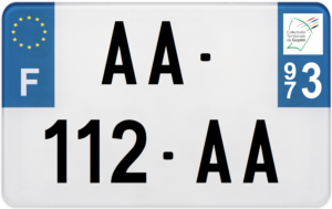 Plaque MOTO – 210×130 – 973 – Guyane