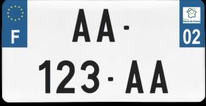 Plaque USA – 30×15 – SIV – 02 – Aisne