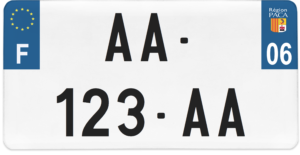 Plaque USA – 30×15 – SIV – 06 – Alpes-Maritimes