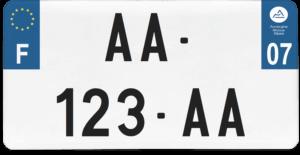 Plaque USA – 30×15 – SIV – 07 – Ardèche
