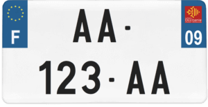 Plaque USA – 30×15 – SIV – 09 – Ariège