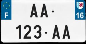 Plaque USA – 30×15 – SIV – 16 – Charente