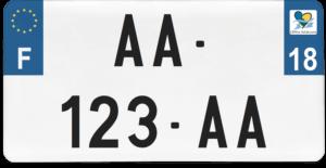 Plaque USA – 30×15 – SIV – 18 – Cher