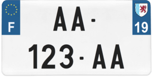 Plaque USA – 30×15 – SIV – 19 – Corrèze