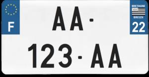 Plaque USA – 30×15 – SIV – 22 – Côtes-d'Armor