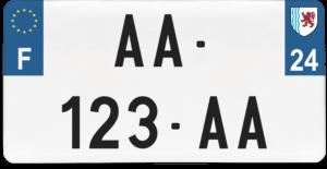 Plaque USA – 30×15 – SIV – 24 – Dordogne