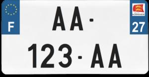 Plaque USA – 30×15 – SIV – 27 – Eure