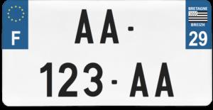 Plaque USA – 30×15 – SIV – 29 – Finistère