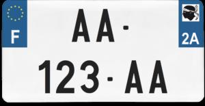 Plaque USA – 30×15 – SIV – 2a – Corse-du-Sud