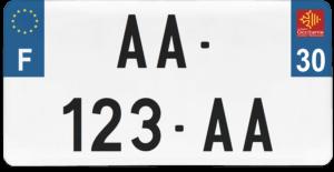 Plaque USA – 30×15 – SIV – 30 – Gard