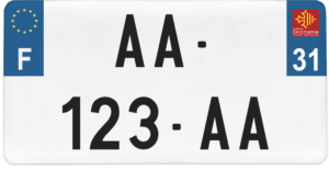 Plaque USA – 30×15 – SIV – 31 – Haute-Garonne