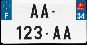 Plaque USA – 30×15 – SIV – 34 – Hérault