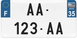 Plaque USA – 30×15 – SIV – 35 – Ile-et-vilaine