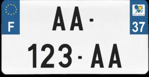 Plaque USA – 30×15 – SIV – 37 – Indre-et-Loire
