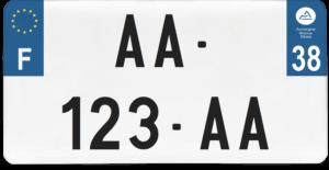 Plaque USA – 30×15 – SIV – 38 – Isère