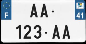 Plaque USA – 30×15 – SIV – 41 – Loir-et-cher