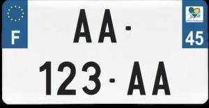 Plaque USA – 30×15 – SIV – 45 – Loiret