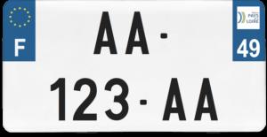Plaque USA – 30×15 – SIV – 49 – Maine-et-loire