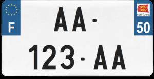Plaque USA – 30×15 – SIV – 50 – Manche