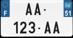 Plaque USA – 30×15 – SIV – 51 – Marne