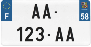 Plaque USA – 30×15 – SIV – 58 – Nièvre