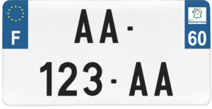 Plaque USA – 30×15 – SIV – 60 – Oise