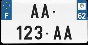Plaque USA – 30×15 – SIV – 62 – Pas-de-Calais
