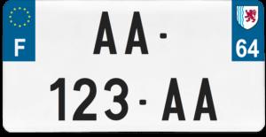 Plaque USA – 30×15 – SIV – 64 – Pyrénées-atlantiques