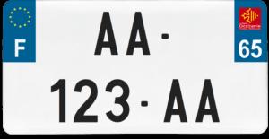 Plaque USA – 30×15 – SIV – 65 – Hautes-Pyrénées