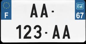Plaque USA – 30×15 – SIV – 67 – Bas-rhin