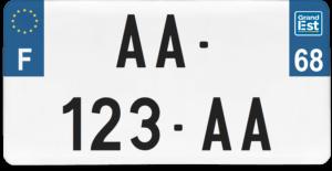 Plaque USA – 30×15 – SIV – 68 – Haut-Rhin