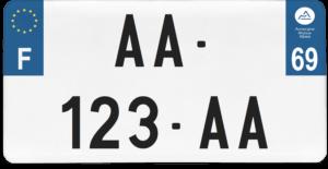 Plaque USA – 30×15 – SIV – 69 – Rhône