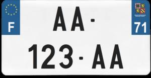 Plaque USA – 30×15 – SIV – 71 – Saône-et-loire
