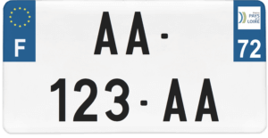 Plaque USA – 30×15 – SIV – 72 – Sarthe