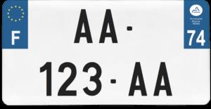 Plaque USA – 30×15 – SIV – 74 – Haute-Savoie