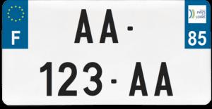 Plaque USA – 30×15 – SIV – 85 – Vendée