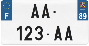 Plaque USA – 30×15 – SIV – 89 – Yonne